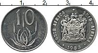 Изображение Монеты ЮАР 10 центов 1983 Медно-никель UNC-