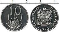 Изображение Монеты ЮАР 10 центов 1973 Медно-никель UNC-
