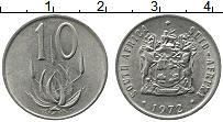 Изображение Монеты ЮАР 10 центов 1972 Медно-никель XF