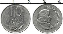 Изображение Монеты ЮАР 10 центов 1965 Медно-никель XF Йохан ван Рибек