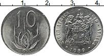 Изображение Монеты ЮАР 10 центов 1989 Медно-никель XF
