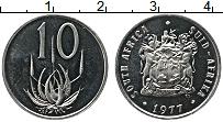 Изображение Монеты ЮАР 10 центов 1977 Медно-никель UNC-