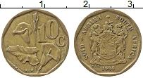 Изображение Монеты ЮАР 10 центов 1994 Латунь XF