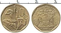 Изображение Монеты ЮАР 10 центов 1992 Латунь XF