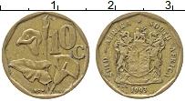 Изображение Монеты ЮАР 10 центов 1993 Латунь XF