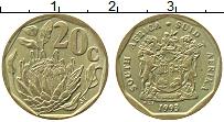 Изображение Монеты ЮАР 20 центов 1993 Латунь XF