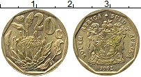 Изображение Монеты ЮАР 20 центов 1992 Латунь XF