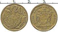 Изображение Монеты ЮАР 20 центов 1994 Латунь XF