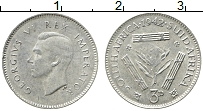 Изображение Монеты ЮАР 3 пенса 1942 Серебро XF Георг VI