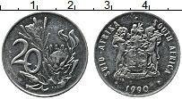 Изображение Монеты ЮАР 20 центов 1990 Медно-никель XF