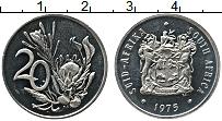 Изображение Монеты ЮАР 20 центов 1975 Медно-никель UNC-