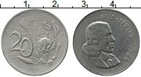 Изображение Монеты ЮАР 20 центов 1965 Медно-никель XF