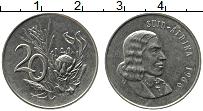 Изображение Монеты ЮАР 20 центов 1966 Медно-никель XF