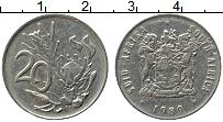 Изображение Монеты ЮАР 20 центов 1989 Медно-никель XF
