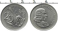 Изображение Монеты ЮАР 20 центов 1966 Медно-никель XF Йохан ван Рибек