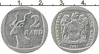 Изображение Монеты ЮАР 2 ранда 1991 Медно-никель XF