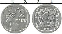 Изображение Монеты ЮАР 2 ранда 1989 Медно-никель XF