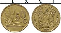 Изображение Монеты ЮАР 50 центов 1993 Латунь XF