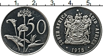 Изображение Монеты ЮАР 50 центов 1978 Медно-никель UNC-