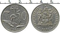 Изображение Монеты ЮАР 50 центов 1971 Медно-никель XF