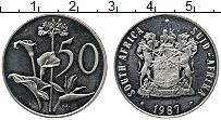 Изображение Монеты ЮАР 50 центов 1987 Медно-никель UNC-