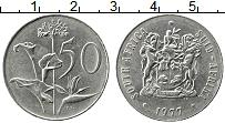 Изображение Монеты ЮАР 50 центов 1977 Медно-никель XF