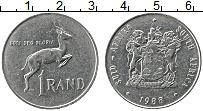 Изображение Монеты ЮАР 1 ранд 1988 Медно-никель XF