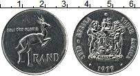 Изображение Монеты ЮАР 1 ранд 1977 Медно-никель UNC-