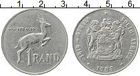 Изображение Монеты ЮАР 1 ранд 1989 Медно-никель XF