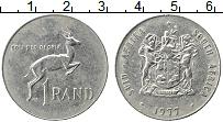 Изображение Монеты ЮАР 1 ранд 1977 Медно-никель XF