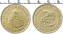 Изображение Монеты ЮАР 1 цент 1964 Латунь XF