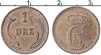 Изображение Монеты Дания 1 эре 1894 Медь XF Кристиан IХ