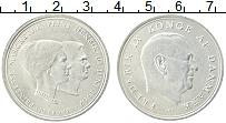 Изображение Монеты Дания 10 крон 1967 Серебро UNC- Свадьба принцессы Ма