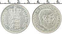 Изображение Монеты Дания 2 кроны 1937 Серебро XF
