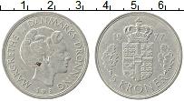 Изображение Монеты Дания 5 крон 1977 Медно-никель XF Маргарет II
