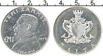 Изображение Монеты Мальта 1 фунт 1973 Серебро UNC- Теми Заммит