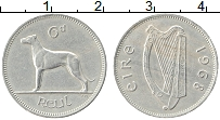 Изображение Монеты Ирландия 6 пенсов 1968 Медно-никель XF