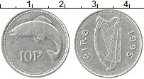 Изображение Монеты Ирландия 10 пенсов 1995 Медно-никель XF