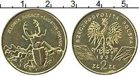 Изображение Монеты Польша 2 злотых 1997 Латунь UNC- Жук-олень