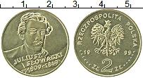 Изображение Монеты Польша 2 злотых 1999 Латунь UNC- Юлиуш Словацкий