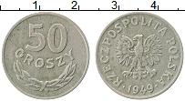 Изображение Монеты Польша 50 грош 1949 Медно-никель XF