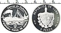 Изображение Монеты Куба 5 песо 1993 Серебро Proof