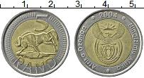 Изображение Монеты ЮАР 5 ранд 2004 Биметалл XF