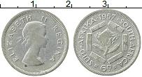 Изображение Монеты ЮАР 6 пенсов 1957 Серебро VF Елизавета II.