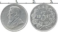 Изображение Монеты ЮАР 3 пенса 1897 Серебро VF Пауль Крюгер