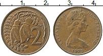 Изображение Монеты Новая Зеландия 2 цента 1975 Медь XF