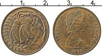 Изображение Монеты Новая Зеландия 2 цента 1985 Медь XF Елизавета II.