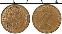 Изображение Монеты Новая Зеландия 2 цента 1983 Медь XF Елизавета II