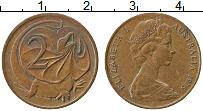 Изображение Монеты Австралия 2 цента 1975 Медь XF Елизавета II