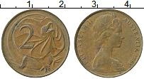 Изображение Монеты Австралия 2 цента 1966 Медь XF Елизавета II